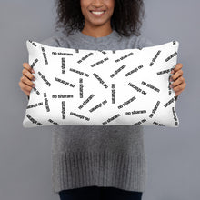 "Load image into Gallery viewer, ""No Sharam"" All-Over Throw Pillow"