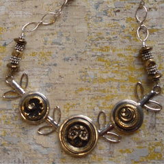 Sold - Button Vine Necklace