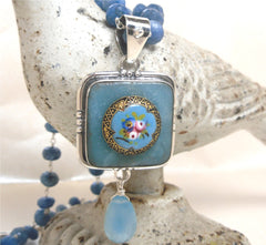 Antique French Enamel with Sterling Silver