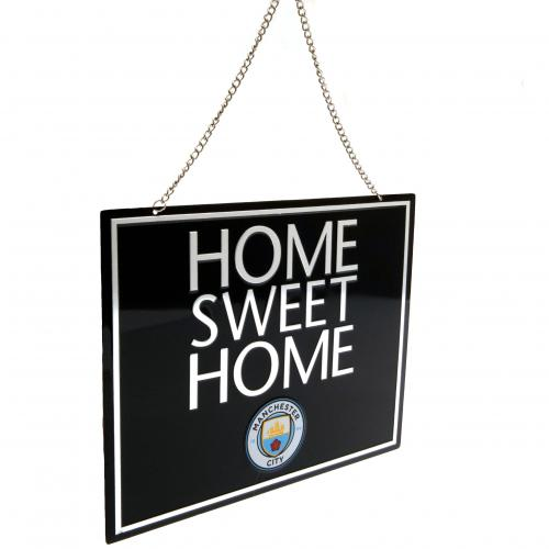 Manchester City FC Home Sweet Home Sign - Football Centrum