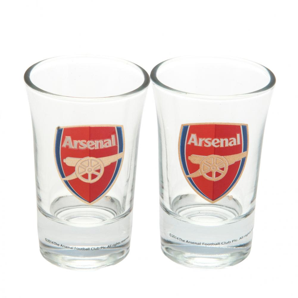 Arsenal FC 2pk Shot Glass Set - Football Centrum