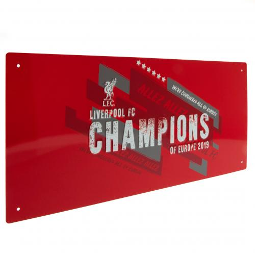 Liverpool FC Champions Of Europe Street Sign - Football Centrum