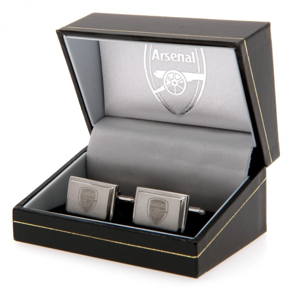 Arsenal FC Stainless Steel Cufflinks - Football Centrum
