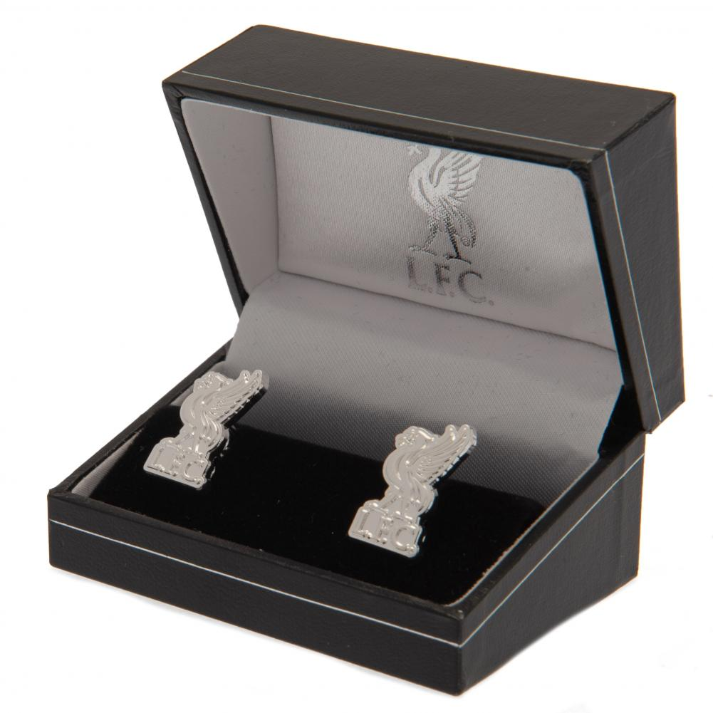 Liverpool FC Silver Plated Formed Cufflinks LB - Football Centrum