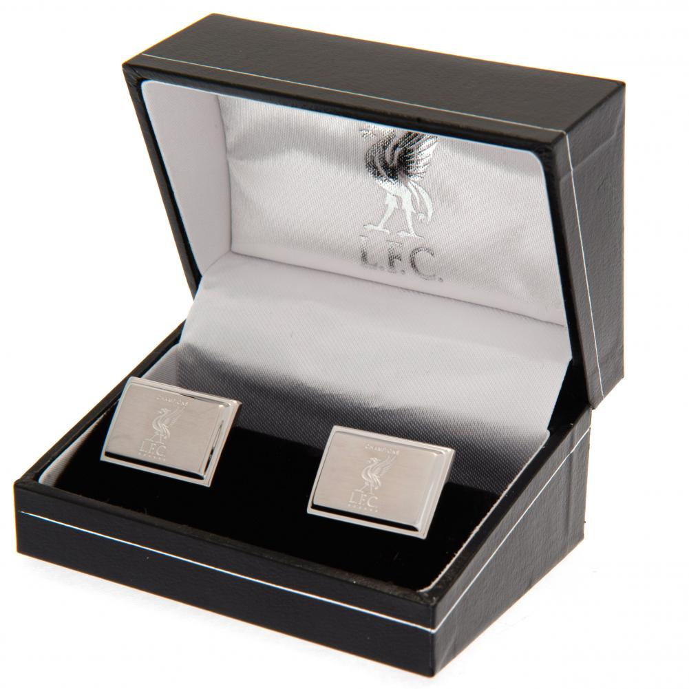 Liverpool FC Champions Of Europe Stainless Steel Cufflinks - Football Centrum