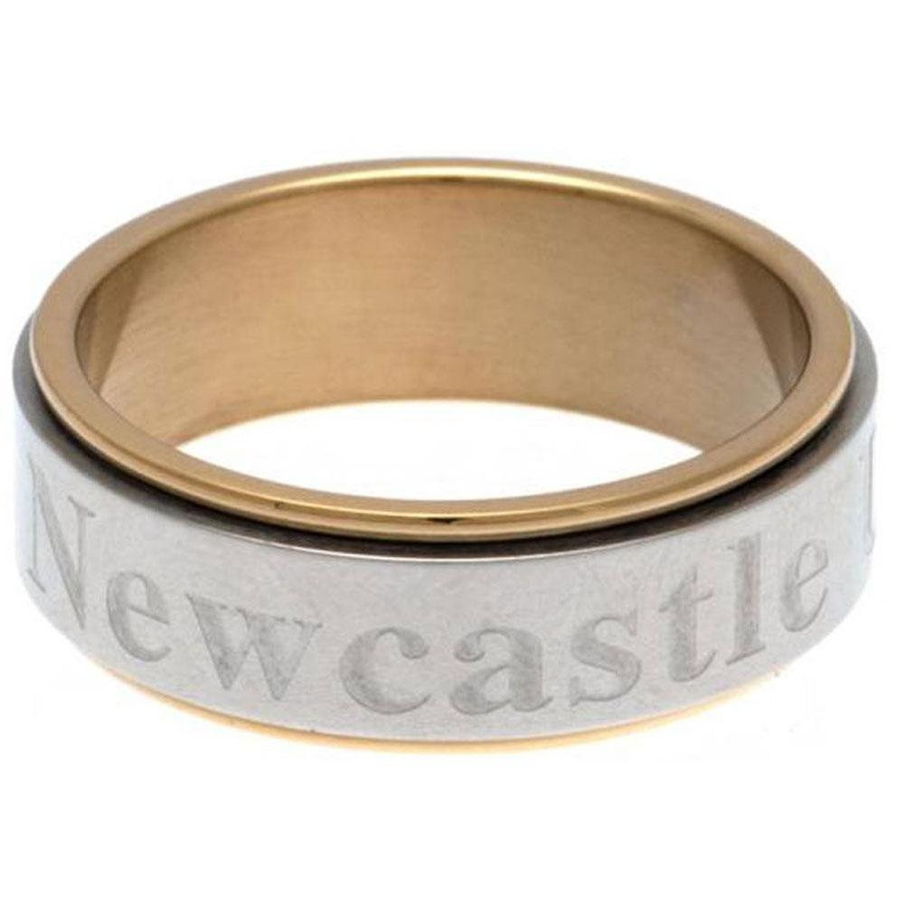 Newcastle United FC Bi Colour Spinner Ring Large - Football Centrum