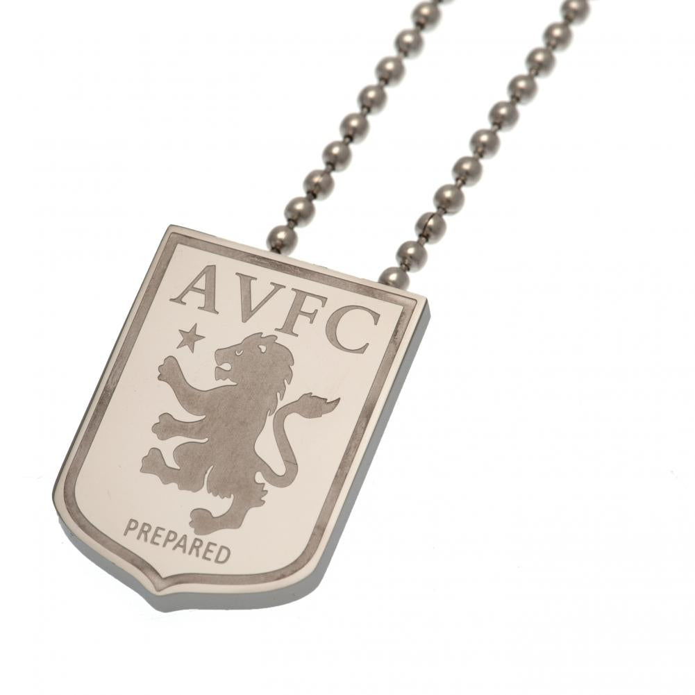 Aston Villa FC Stainless Steel Pendant & Chain LG - Football Centrum