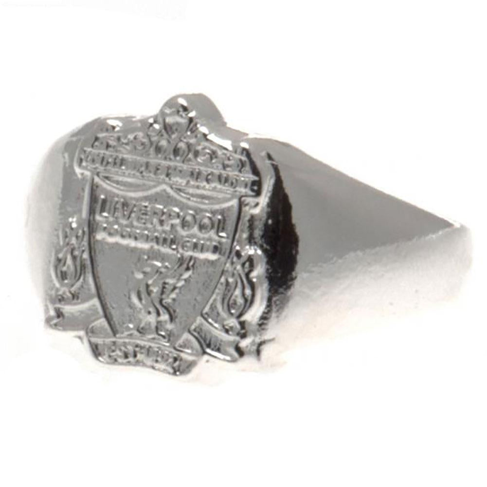 Liverpool FC Silver Plated Crest Ring Large - Football Centrum