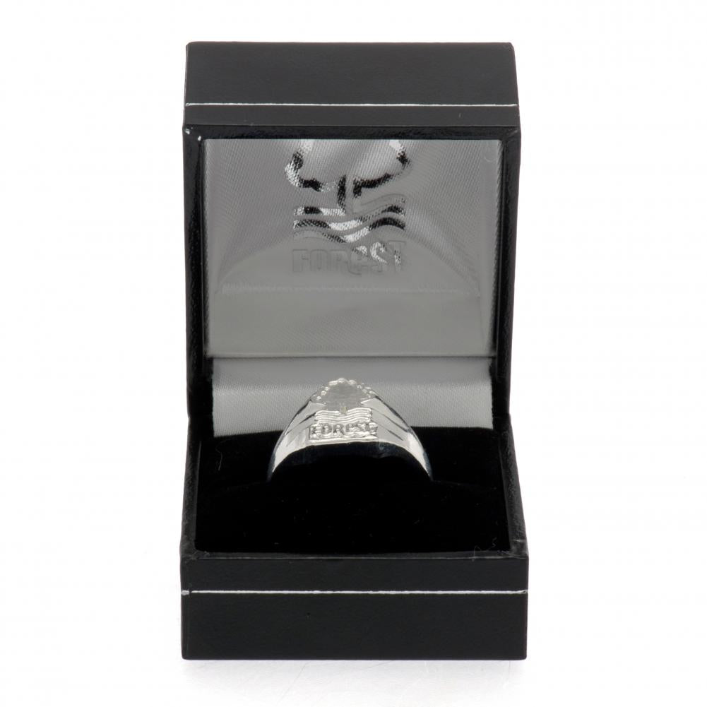 Nottingham Forest FC Silver Plated Crest Ring Medium - Football Centrum