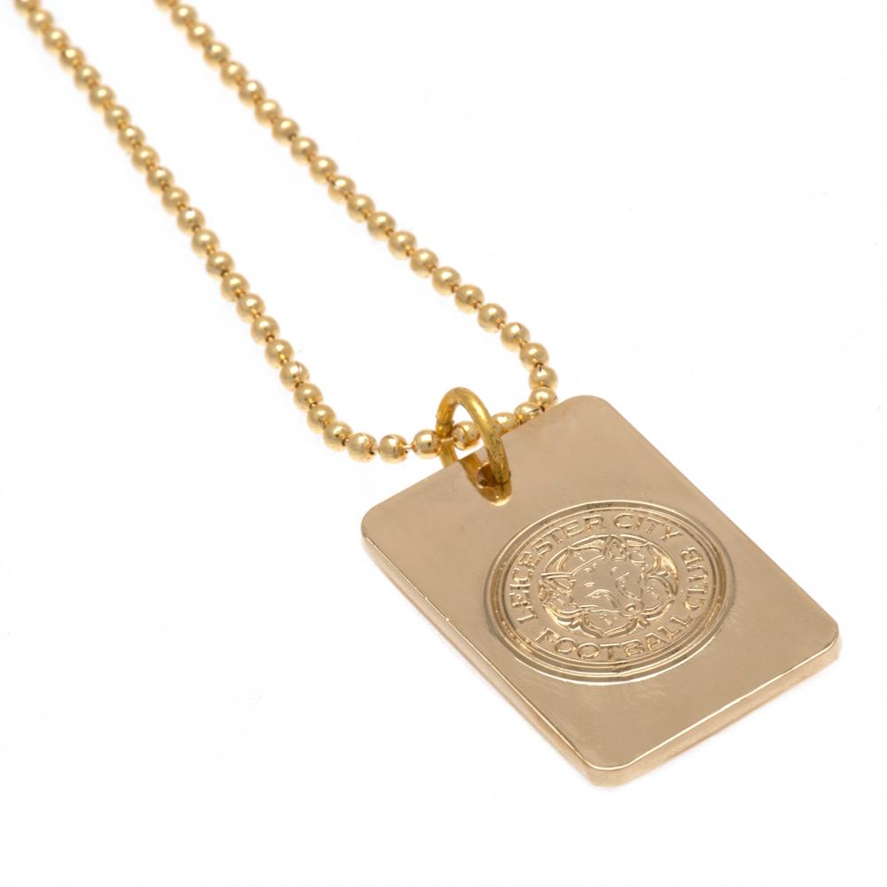Leicester City FC Gold Plated Dog Tag & Chain - Football Centrum