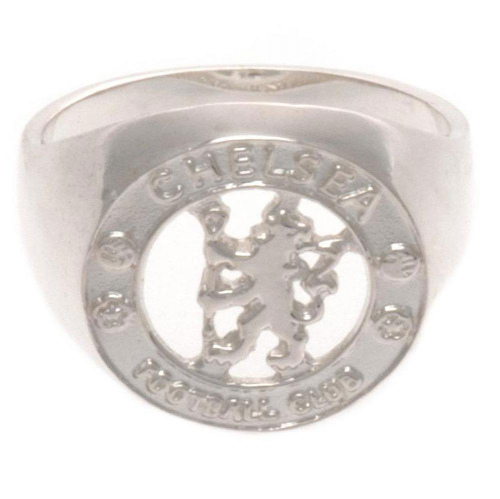 Chelsea FC Sterling Silver Ring Large - Football Centrum