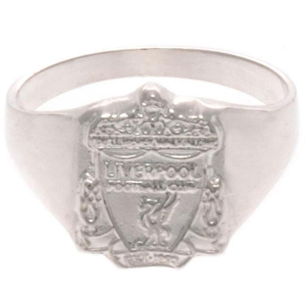 Liverpool FC Sterling Silver Ring Medium - Football Centrum