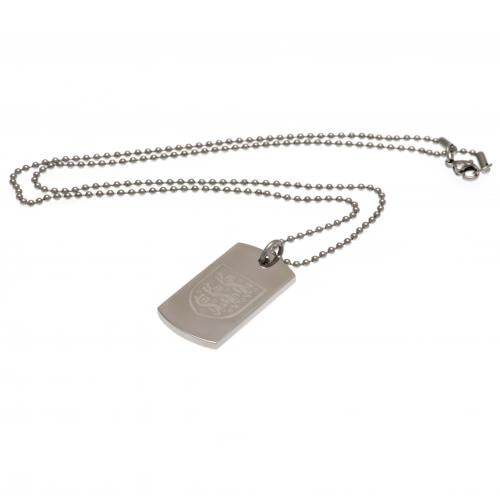England FA Engraved Dog Tag & Chain - Football Centrum