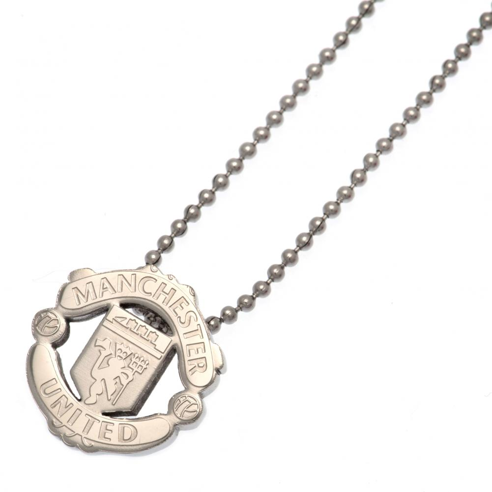 Manchester United FC Stainless Steel Pendant & Chain - Football Centrum