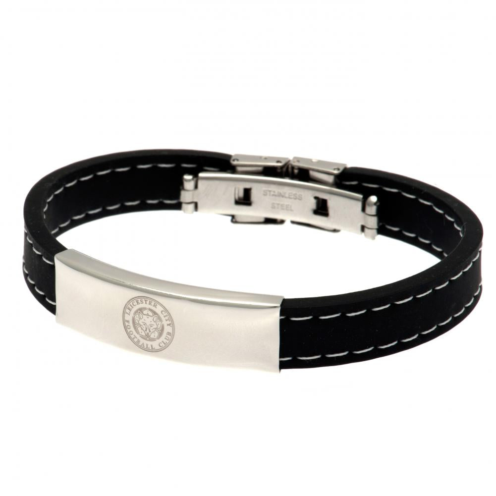 Leicester City FC Stitched Silicone Bracelet BK - Football Centrum