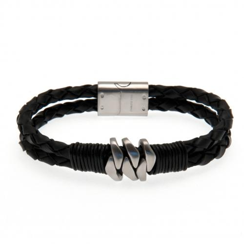 Newcastle United FC Leather Bracelet - Football Centrum