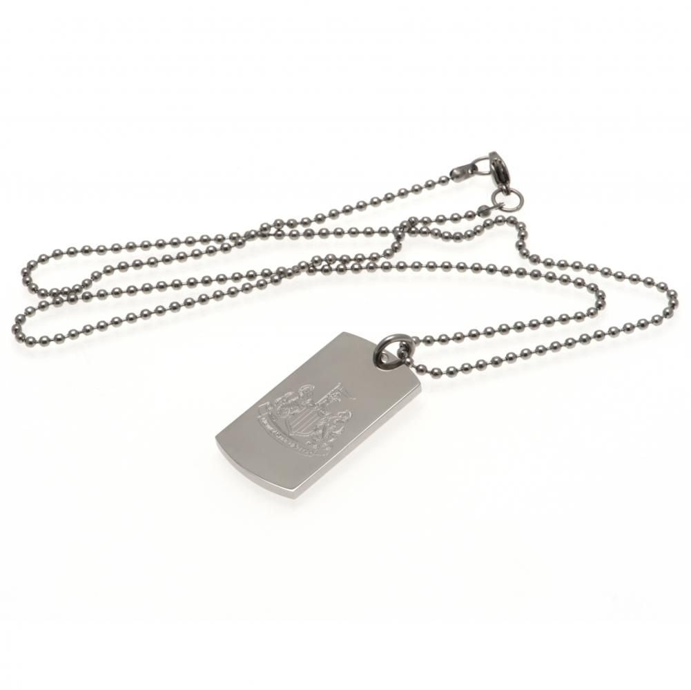 Newcastle United FC Engraved Dog Tag & Chain - Football Centrum