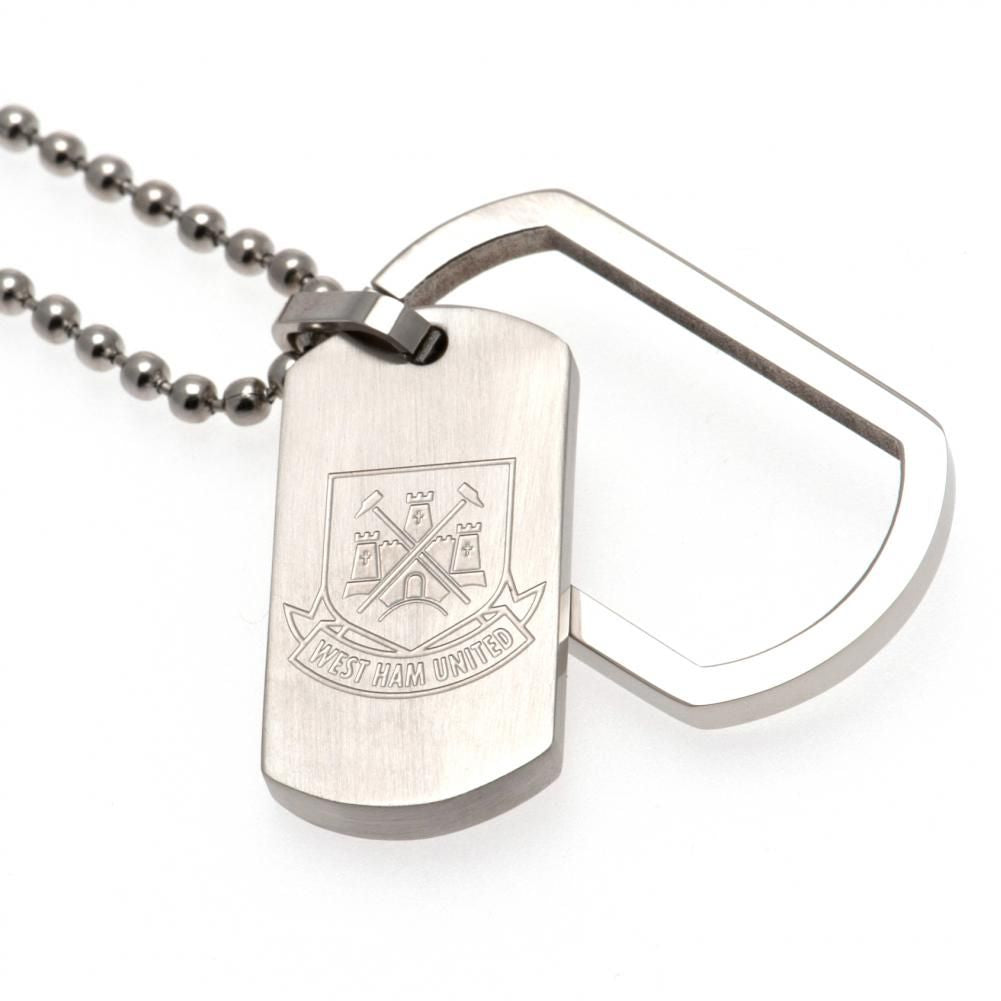 West Ham United FC Framed Dog Tag & Chain CT - Football Centrum