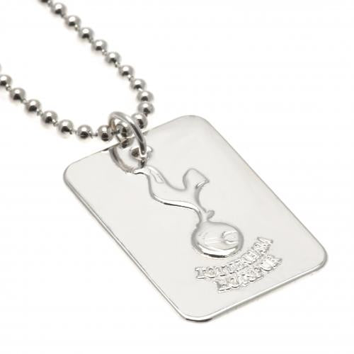 Tottenham Hotspur FC Silver Plated Dog Tag & Chain - Football Centrum