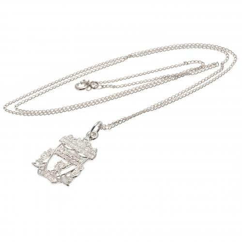 Liverpool FC Sterling Silver Pendant & Chain CR - Football Centrum