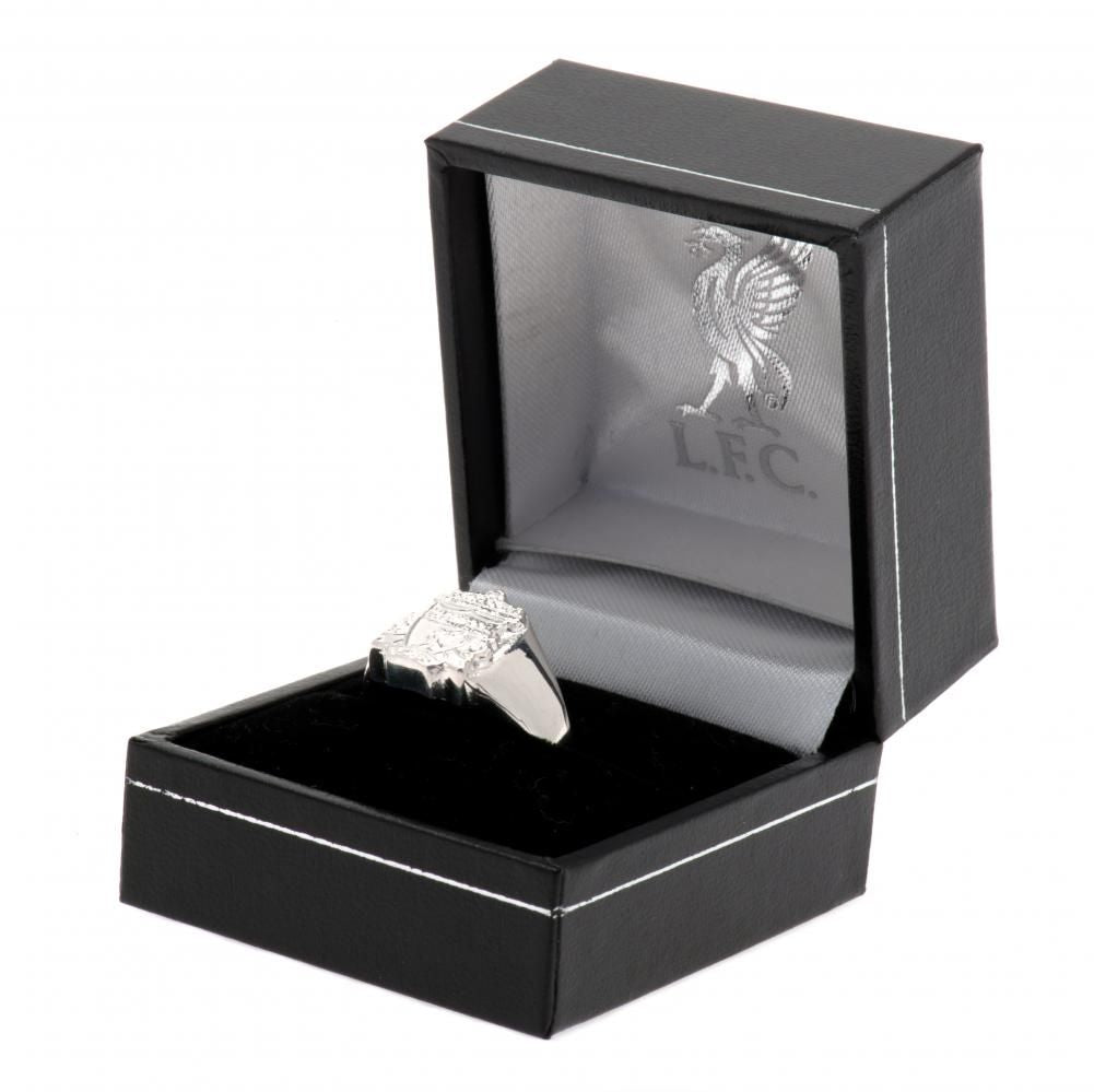 Liverpool FC Sterling Silver Ring Small - Football Centrum