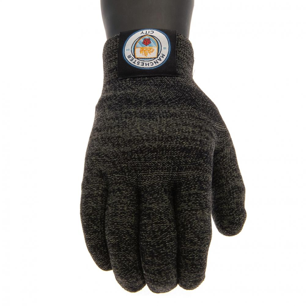 Manchester City FC Luxury Touchscreen Gloves Adult - Football Centrum