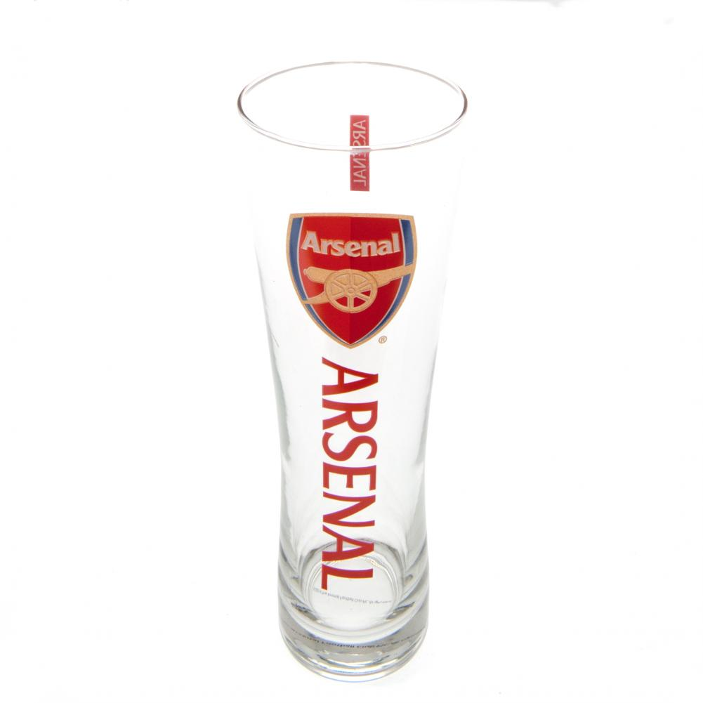 Arsenal FC Tall Beer Glass - Football Centrum