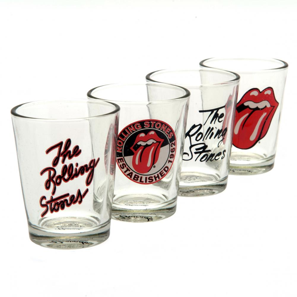 The Rolling Stones 4pk Shot Glass Set - Football Centrum