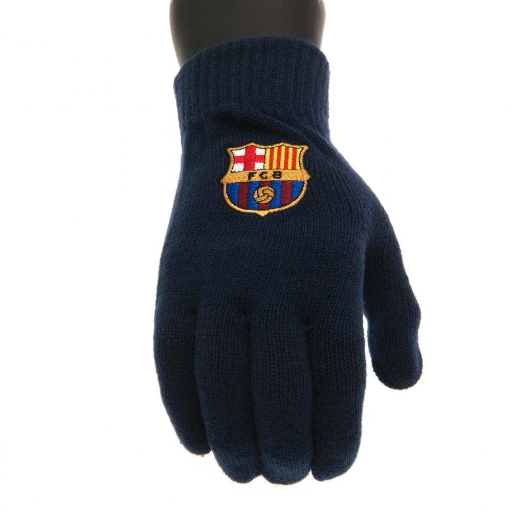 FC Barcelona Knitted Gloves Adult - Football Centrum