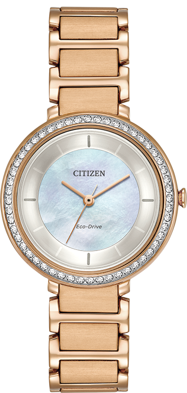 Citizen Silhouette Eco-Drive Crystal Womens Watch EM0483-54D