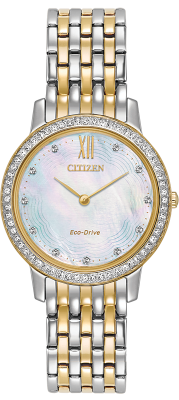 Citizen Silhouette Eco-Drive Crystal Womens Watch EX1484-57D