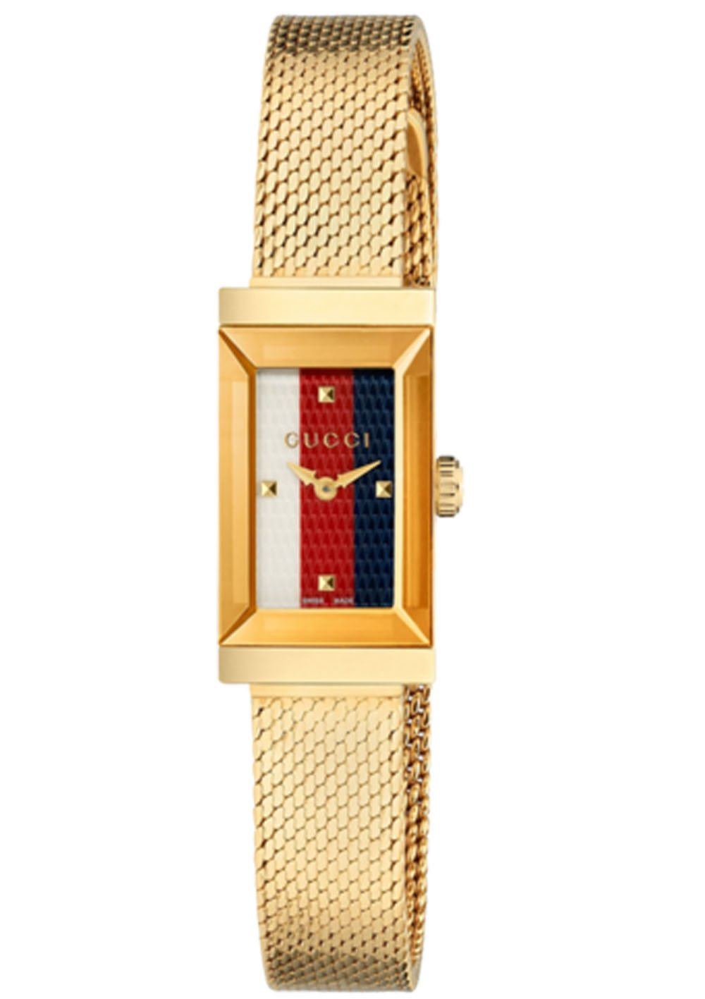 Gucci G-Frame Mesh Bracelet Women's Watch YA147511