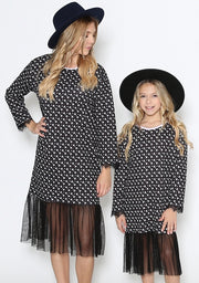 Lace N Mono Child Dress