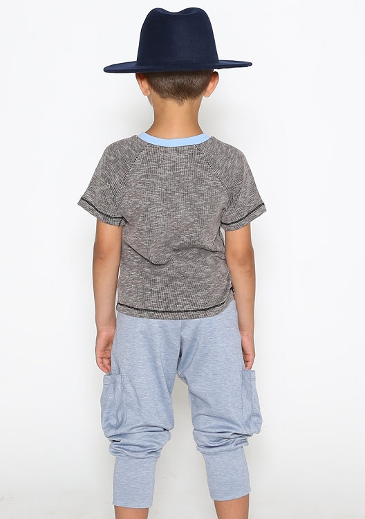 Nutrition Fact Boys Grey Tee