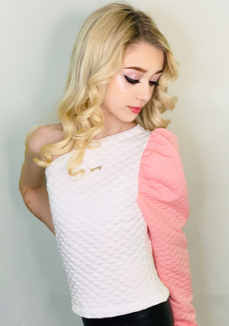 Emery Pink Puff Top