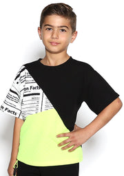 Color Block Neon Boys Tee