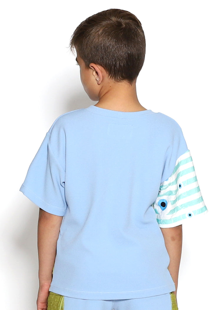 Color Block Blue Boys Tee