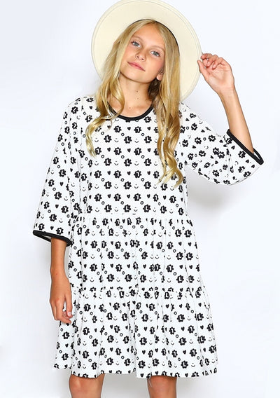 Bubbly Mono Dress