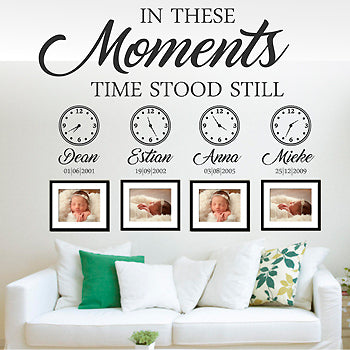 MOMENTS WITH CLOCKS