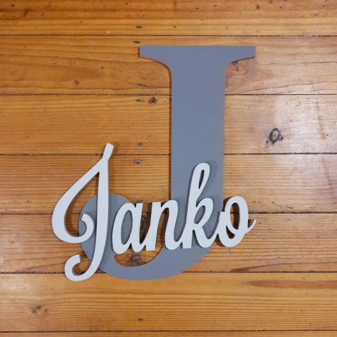WOODEN LETTER AND NAME 40cm