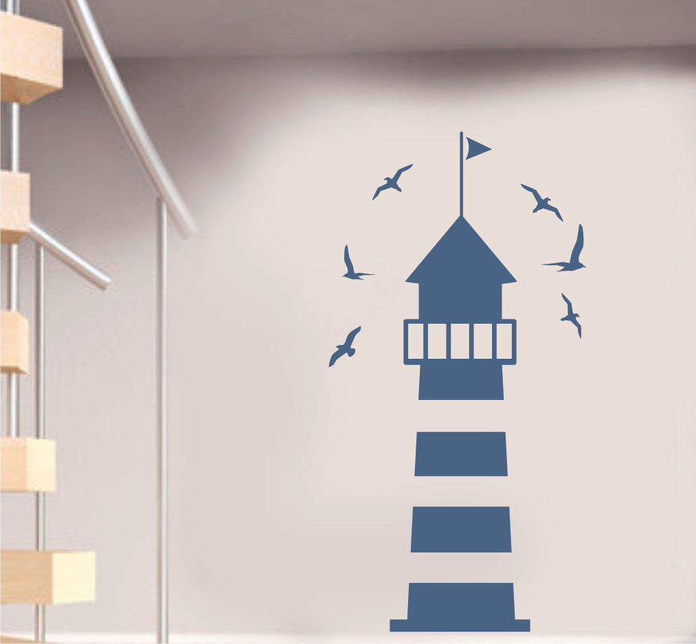 LIGHTHOUSE WITH BIRDS