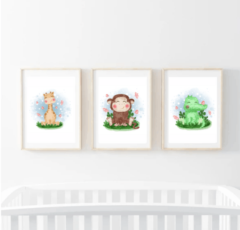 CUTE WATERCOLOUR ANIMALS - PRINTABLES