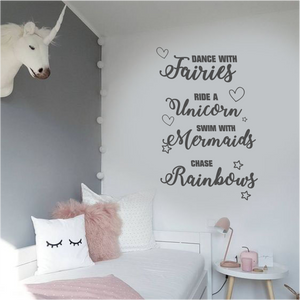 UNICORN , FAIRIES AND MERMAIDS QUOTE