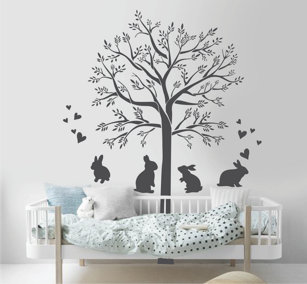 TREE WITH LOVE BUNNIES/BUNNY