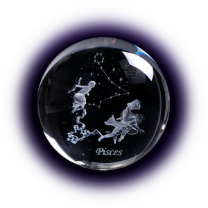 Crystal Luminous Zodiac Sign Ball Pisces
