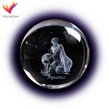 Load image into Gallery viewer, Crystal Luminous Zodiac Sign Ball Aquarius
