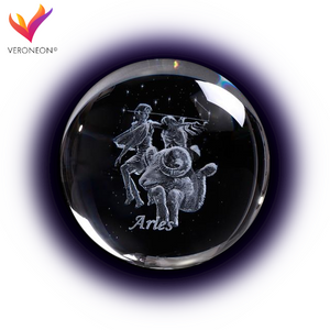 Crystal Luminous Zodiac Sign Ball Aries