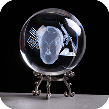 Load image into Gallery viewer, Casa De Papel engraved crystal ball