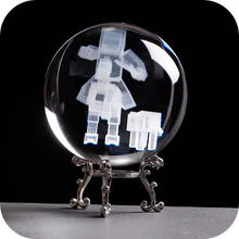 Load image into Gallery viewer, Minecraft engraved crystal ball