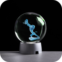 Load image into Gallery viewer, Rafiki Simba engraved crystal ball